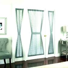 glass door curtains sliding half blinds glass door