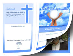 Templates For Church Programs Printable Church Brochure Bifold