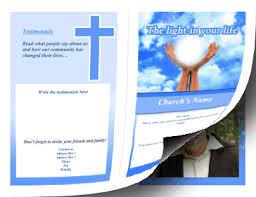 Church Program Templates Free Download Printable Church Brochure Bifold