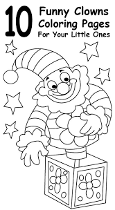 10 Funny Clowns Coloring Pages For