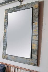 large french antique wall panel as wall mirror original distressed patina patches of yellow