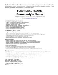 Resume Template Functional Summary Bongdaao Com