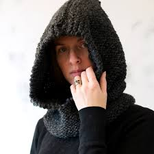 Knit Hooded Cowl Pattern