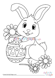 These symbols aren't modern day creations, they stem from old world customs established before the christian. Easter Bunny Colouring Page 4