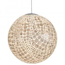 unique round capiz shell chandelier for home lighting ideas