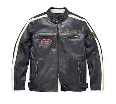 harley davidson men s command leather riding jacket perforated leather sleeve stripes
