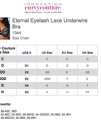 Curvy Couture Size Chart Curvy Couture Eternal Eyelash Lace Underwire Bra