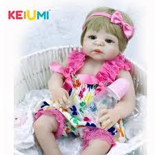 keiumi 57 cm lovable silicone reborn baby dolls for kids birthday gifts true to life 23 newborn reborn baby ethnic dolls interactive novel visual