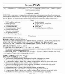 Quality Inspector Resume Mesmerizing Qc Inspector Resume Sample Inspector Resumes LiveCareer