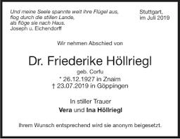 Traueranzeigen Stuttgart Gedenktde