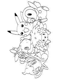 Pikachu Coloring Pages Printable Coloring Sheets Pikachu Colouring