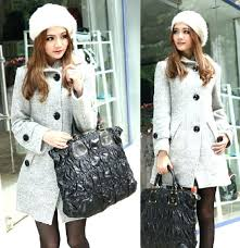 womens pea coat with hood wool blends fitted pea coats las fashion winter outwear hoos thick