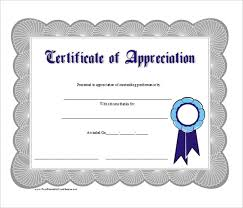 Certificate Of Appreciation Templates Free Download Appreciation Certificates Templates Free Download Blank Printable
