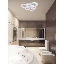 unusual ceiling lighting. Modern 6-ring LED Unusual Flush Ceiling Light In White With Matt Arms Lighting