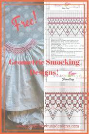 Free Printable Smocking Designs For Baby Dresses Free Geometric Smocking Plates Smocking Patterns Smocking