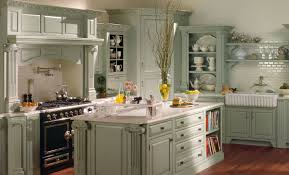 Kitchen:Charming British Country Kitchen With Beige Walls Also Wood Ceiling  Structure Splendid Country British