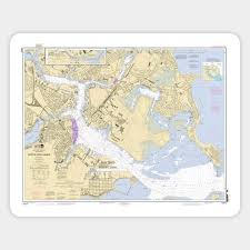Boston Harbor Chart Boston Harbor Nautical Chart