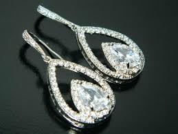 full size of nadri cubic zirconia chandelier earrings crystal bridal teardrop wedding dangle prom jewelry gold
