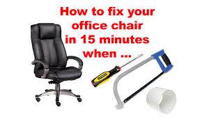 Office Chair Gas Lift Fix