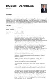 Ceo Resume Examples Magnificent President And Ceo Resume Samples VisualCV Resume Samples Database