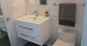 floating vanity in a small bathroom good choice floating bathroom cabinets5