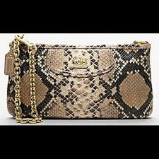 Coach Madison Large Wristlet - Python