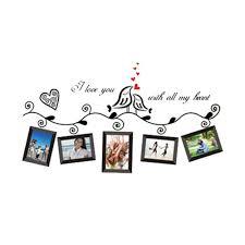 love birds photo frame stickers decal wedding room decor wall art sticker z6i5