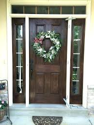 stained front door wooden stained glass