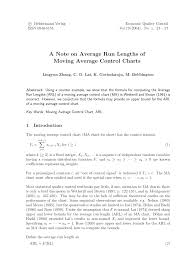 Pdf A Note On Average Run Lengths Of Moving Average Control