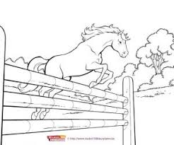 Kleurplaten Paarden Stal