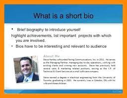 Sample Short Biography Template Bio Word Free Profile Samples