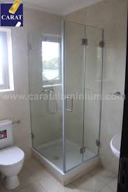 shower with folding door in closed position
