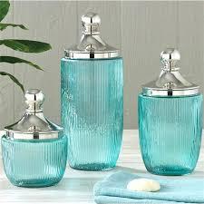 aqua glass bathroom accessories blue
