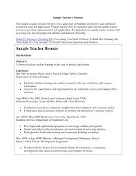 Brilliant Ideas Of Sample Resume Teaching Position With Example