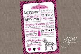 Zebra Print Baby Shower Invitations  MarialonghiComPink Zebra Baby Shower Invitations