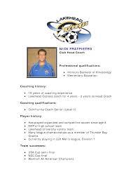 Comfortable Football Coaching Resume Ideas Entry Level Resume