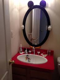 charming gorgeous mirror and fabulous design of red bath vanities mickey mouse bathroom