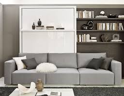 The MurphySofa Float features a main couch and a sectional chaise lounge to  give your micro-loft plenty of seating space. The wall bed folds right over  the ...