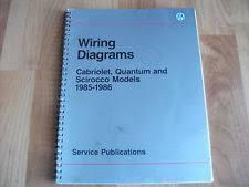 vw quantum 1985 1986 vw cabriolet quantum scirocco wiring diagrams manual
