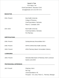 Ms Word Resume Format Work Resume Template Free Creative Resume ...