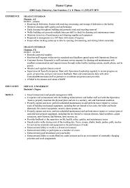 Sample Custodian Resume Head Custodian Resume Samples Velvet Jobs 10