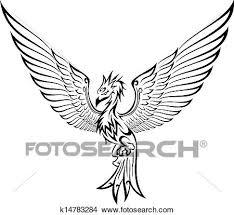 Drawings Of Phoenix Clipart Of Phoenix Tattoo K14783284 Search Clip Art Illustration
