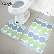 zeegle geometric pattern bath mats and toilet set non slip bathroom mat toilet rug absorbent bathroom floor carpet foot pad bath mat bathroom mat patterned