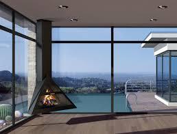 traforart admeto corner suspended fireplace