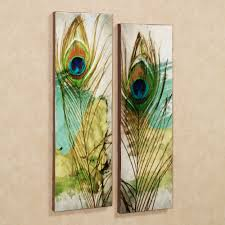 Peacock Inspired Home Decor Peacock Rug For Sale Home Peacock Feather Canvas Wall Art Set