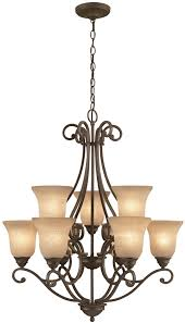 iron stone finish chandelier from the linkhorn collection light