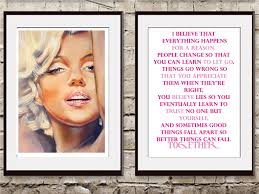 Marilyn Monroe Living Room Decor Wall Decor Quotes By Marilyn Monroe The Drawing Room Interiors