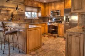 unfinished kitchen cabinet refacing ideas with gas stove and sink