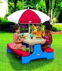 little tikes picnic table with umbrella kid picnic table umbrella little tikes picnic table