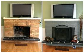 brick fireplace hearth ideas to update an old brick fireplace with paint